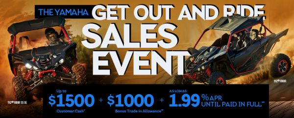 Yamaha Get Out And Ride Sales Event